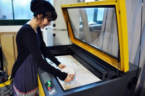 @Vectorealism Staff at work lasercutting