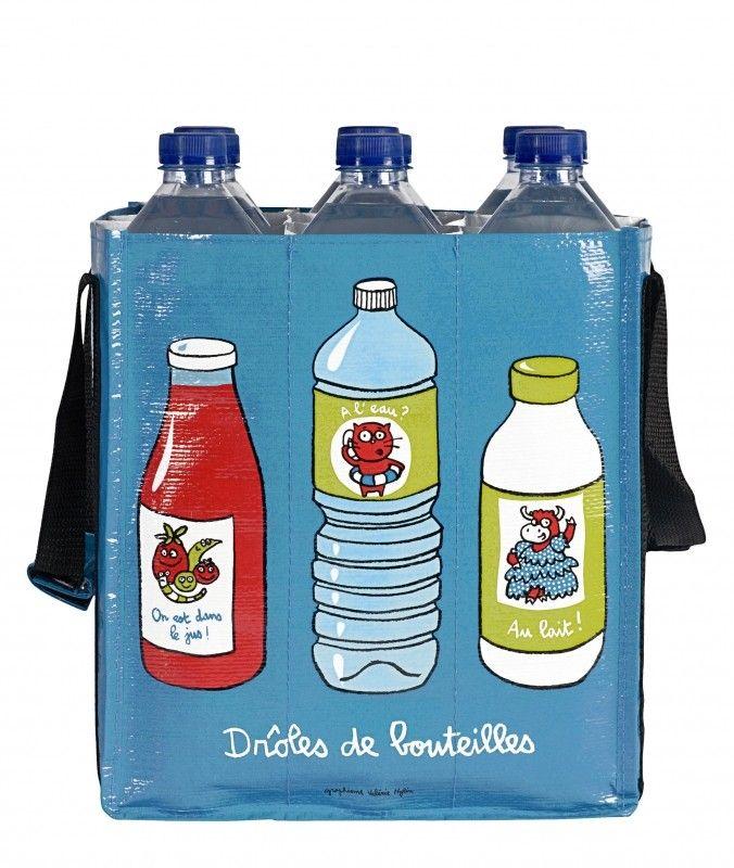 Sac à bouteilles bleue