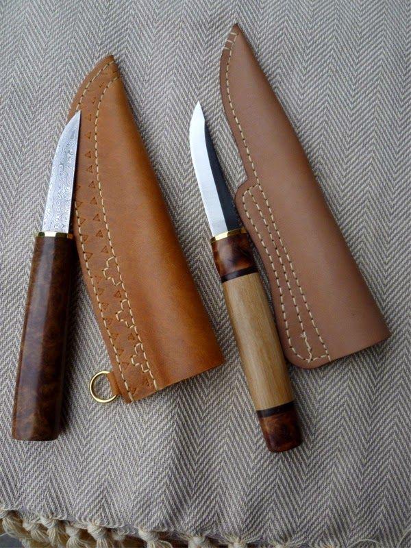Knives by Erich Singer, sheaths by Tríona Ní Erc