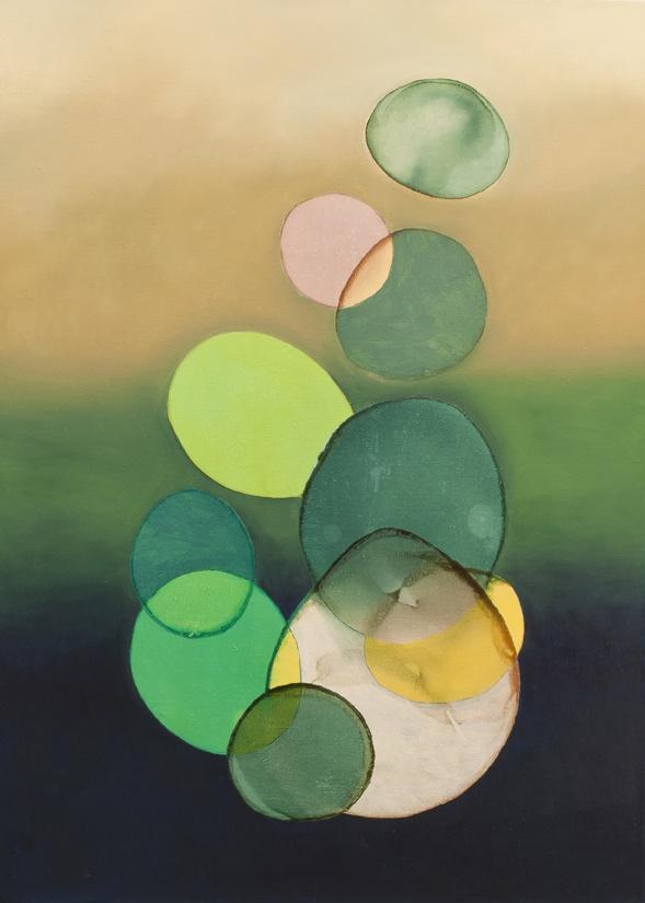 2012-019 • pithari - pithari 1 - 100 x 70 cm - oil and lacquer on canvas - olaj, lakk, vászon - romvári márton contemporary art