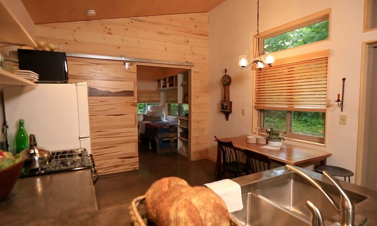 "Beautiful wood blinds provided by Vermont Shade and Blind. See this job on the TV series ""tiny house nation""  vtshadeandblind.com"