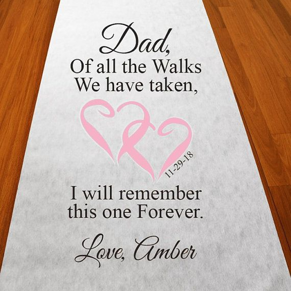 Of All The Walks with Dad Personalized Walk by PartyPoshDesigns