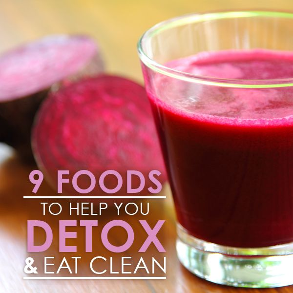 9 Foods to Help You Detox and Eliminate Waste--perfect for after the holiday! #detox #cleanse