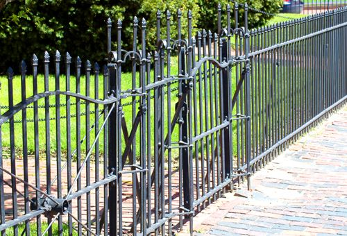 Fence Pictures: Wrought Iron Fences all fence pics courtesy of landscapingabout.com