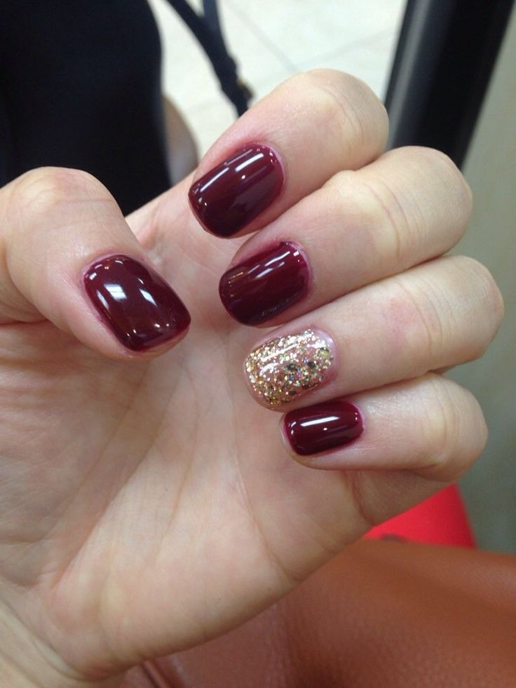 Gel Nails By Amy Magala Wine Opi Yelp Gel Nails Nails Black Nails