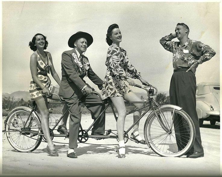 VELOCIPEDE~Jinx Falkenburg Jack Benny Peggy Diggins Charles Farrell Palm Springs 1941