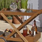Aland Wooden Portable Drinks Trolley - Contemporary - Outdoor Serving Carts - other metro - by B&Q