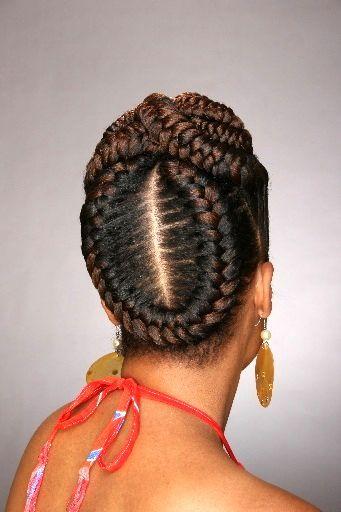 African Hair Braiding Cornrow Styles Mohawk Fishtail Cornrows Updo