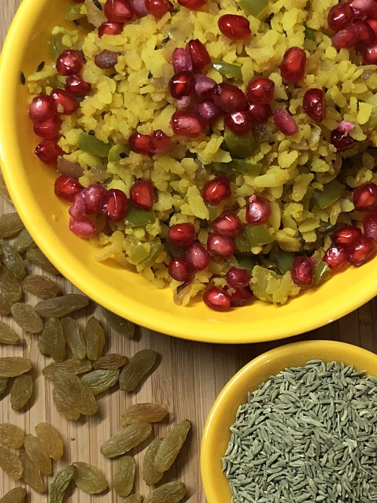 Pomegranate & Fennel Seed Poha - Indori Poha