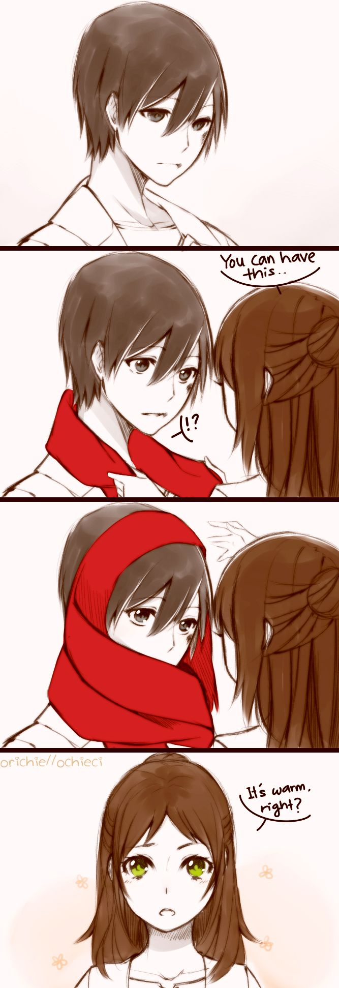 Eren x Mikasa (gender bender) - SNK Attack On Titan