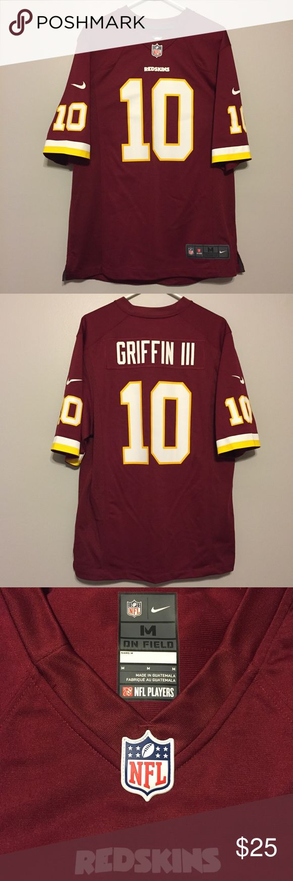 Authentic NFL Redskins Jersey RG3 Robert Griffin III Redskins Jersey. Authentic NFL Shop. Men's size Medium. Perfect condition. Nike Shirts