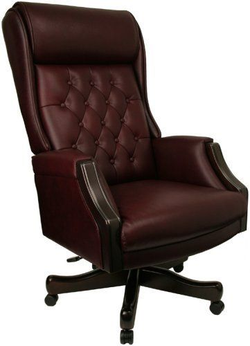 Pin it :-) Follow us :-)) AzOfficechairs.com is your Officechair Gallery ;) CLICK IMAGE TWICE for Pricing and Info :) SEE A LARGER SELECTION of  high back  office chair at  http://azofficechairs.com/?s=high+back+office+chair -  office, office chair, home office chair - High Back Traditional Tufted Burgundy Leather Executive Office Chair « AZofficechairs.com