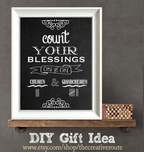 Great Diy Christmas Gift: Great Gift Idea For All The Parents Or Grandparents On My