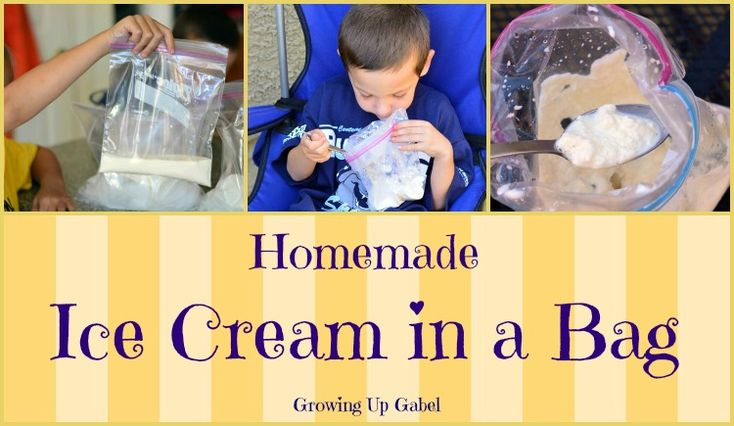 Homemade Ice Cream in a Bag from Growing Up Gabel