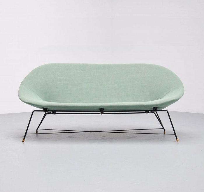 Augusto Bozzi sofa for Saporiti, Italy, 1954