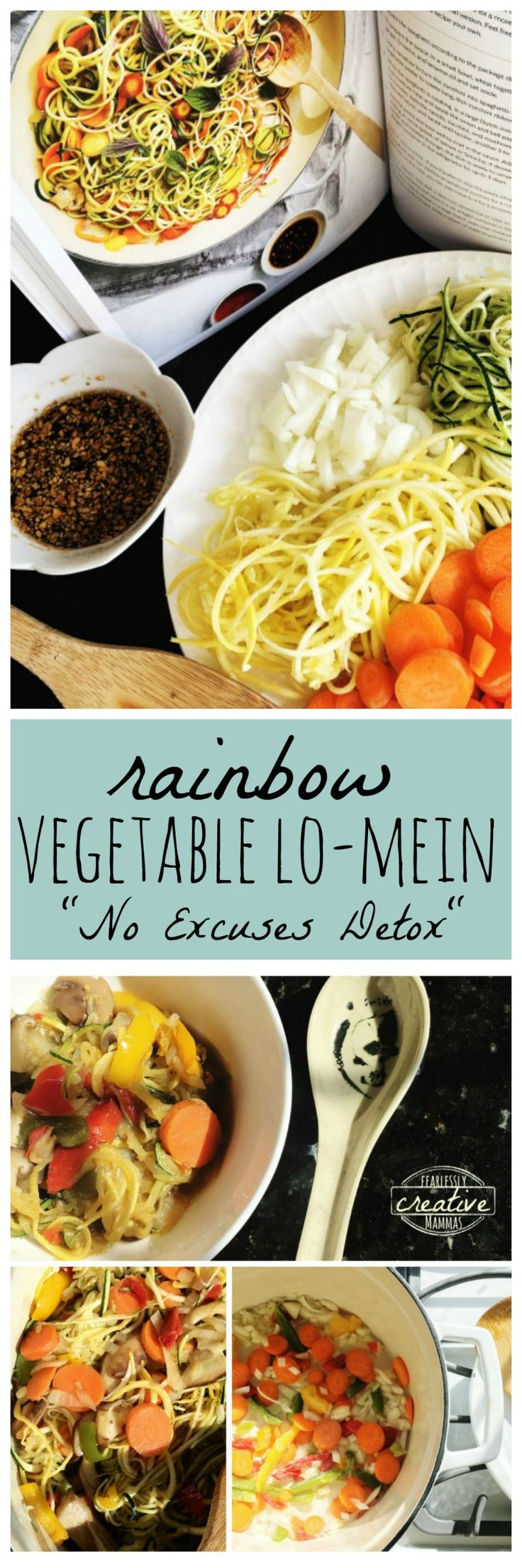 """Now is the time to get those yummy spring vegetables on your plate with the Rainbow Vegetable Lo-Mein recipe.   """"REPRINTED WITH PERMISSION FROM NO EXCUSES DETOX, COPYRIGHT © 2017 BY MEGAN GILMORE, PUBLISHED BY TEN SPEED PRESS, AN IMPRINT OF PENGUIN RANDOM HOUSE LLC."""""""