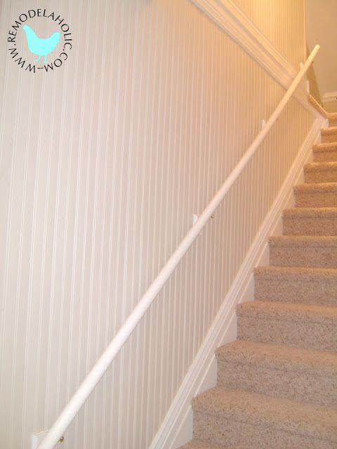 beadboard in the stairwell