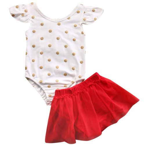 >> Click to Buy << Cute Newborn Baby Girl Clothes Set 2017 Summer Polka Dot Romper Bodysuit Top+Tutu Skirt 2PCS Princess Girls Party Clothes Outfit #Affiliate