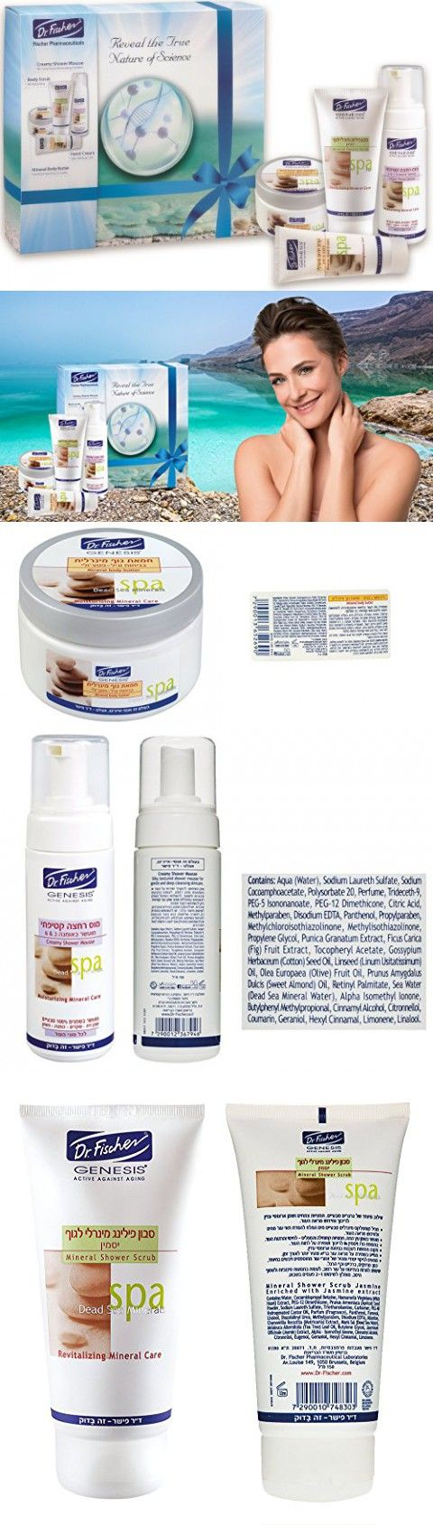 4 in 1 Genesis Dead Sea Minerals SPA Body Complete Treatment Gift Kit Dr. Fischer-SPA Gift Basket-Exclusive Gift! Directly from Dead Sea (ISRAEL)