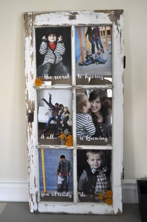 Old Window Turned Picture Frame: