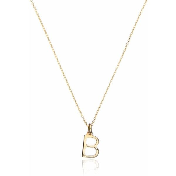 Lily & Roo - Gold Small Initial Charm Necklace ($170) ❤ liked on Polyvore featuring jewelry, necklaces, initial charms, gold charms, yellow gold necklace, letter necklace and charm necklaces