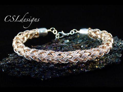 Multi strand hollow wire kumihimo braid - YouTube