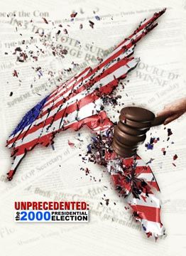 Unprecedented: The 2000 Presidential Election is a 2002 47-minute documentary directed and co-written by Richard Ray Pérez and Joan Sekler,an d narrated by Peter Coyote, about the contested 2000 presidential election in Florida.  It was re-released in an extended 56-minute[2004 Campaign Edition presented by Danny Glover to tie in with the 2004 US presidential election.