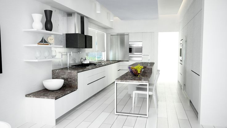 White kitchen - Quetzal Design Studio Cancún México