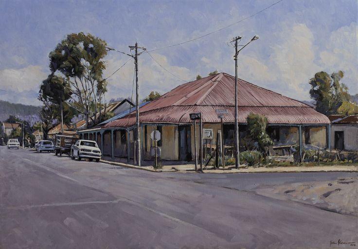 Red Roof House, Alice | Oil on canvas 500mm x 800mm Artist: John Kramer www.johnkramer.net