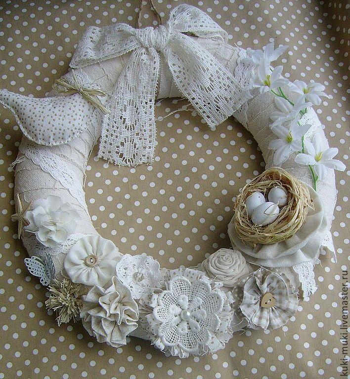 Купить Венок Светлая Пасха - натуральный, пасхальный, пасхальный венок, пасхальный сувенир, пасхальный декор