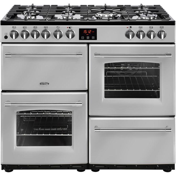 Farmhouse100DF_SI | Belling range cooker | Silver | ao.com