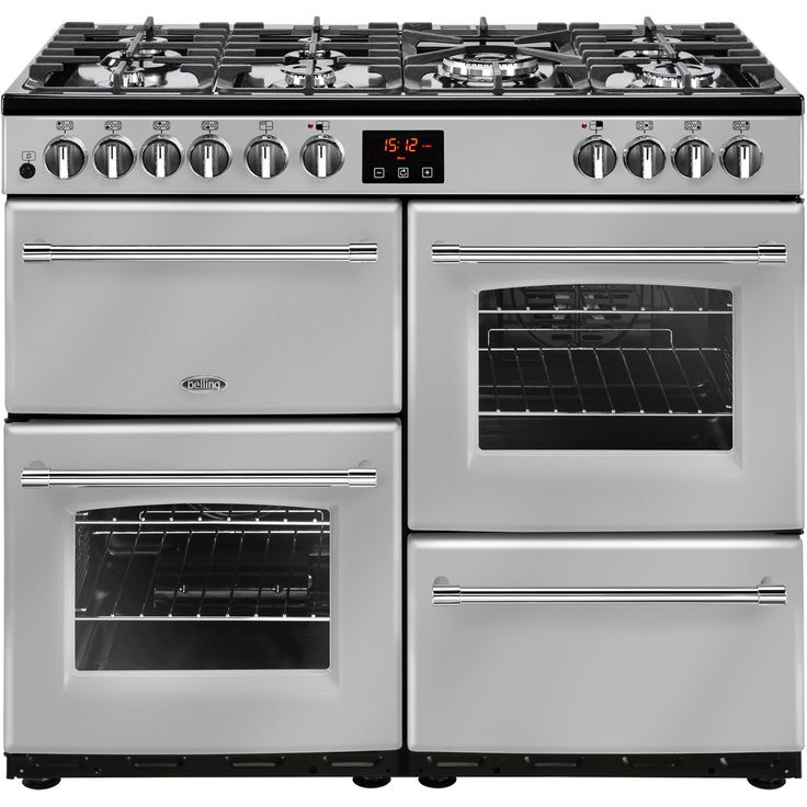 Farmhouse100DF_SI | Belling range cooker | Silver | ao.com