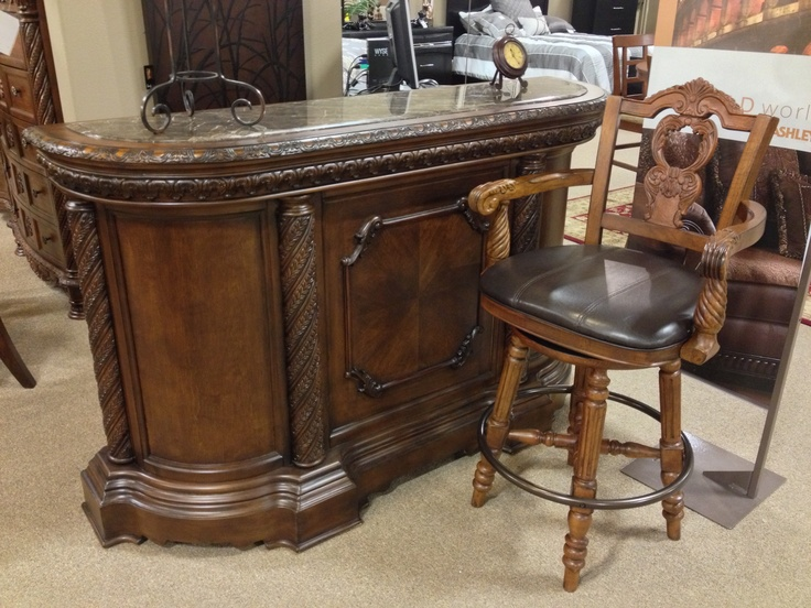 North Shore 3 Piece Bar Set At Ashley Furniture In Tricities Old World Pinterest North