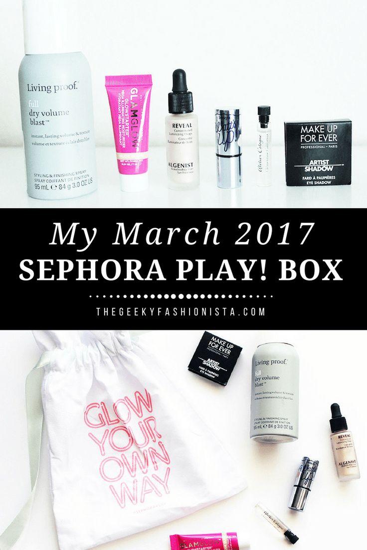 March Sephora Play Box Geeky Fashionista
