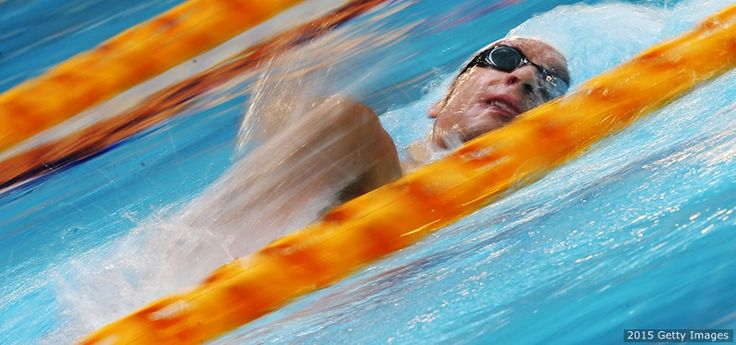 Brad Snyder competes in the heats of the men's 400-meter freestyle S11 during the IPC Swimming World Championships at Tollcross Swimming Centre on July 14, 2015