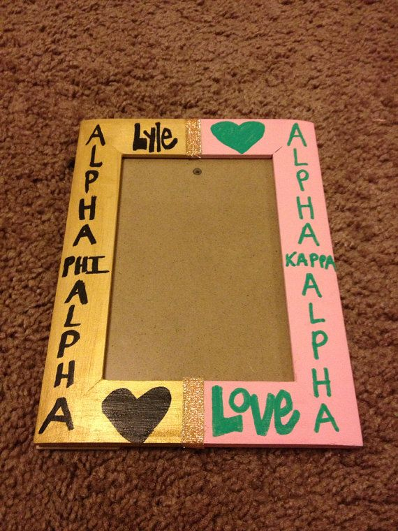 Lyle Love Alpha Phi Alpha Kappa Alpha Picture Frame  by JohnOne3, $10.00