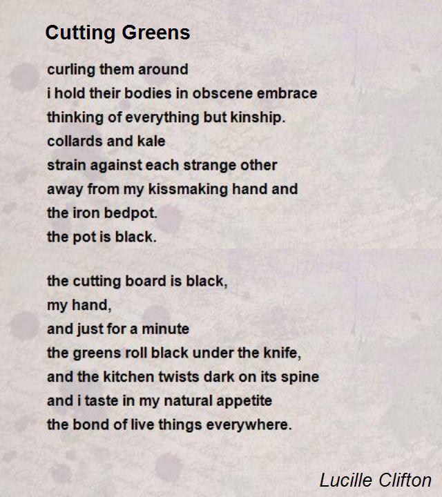 Cutting Greens - Lucille Clifton