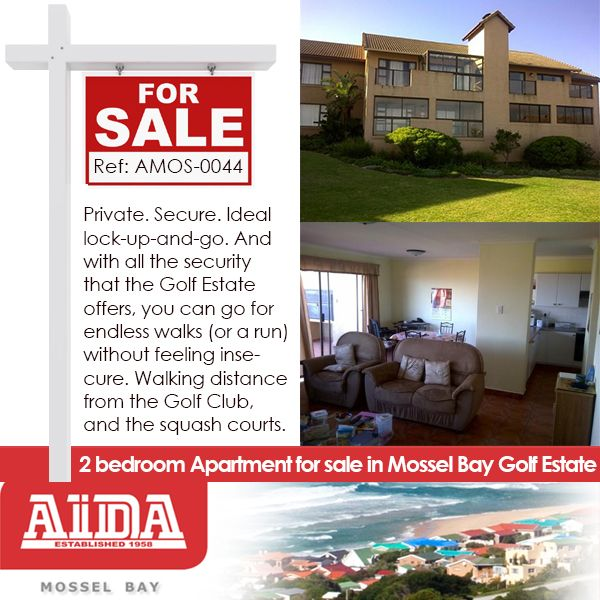 Private. Secure. Ideal lock-up-and-go. And with all the security that the Golf Estate offers, you can go for endless walks (or a run) without feeling insecure. Walking distance from the Golf Club, and the squash courts. WEB REF: AMOS-0044 #golfestate #property #mosselbay