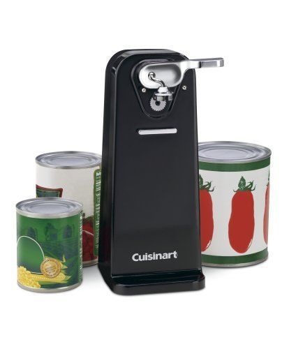 Deluxe Electric Can Opener Smooth Edge Touch Commercial Kitchen Tool Black NEW #Cuisinart