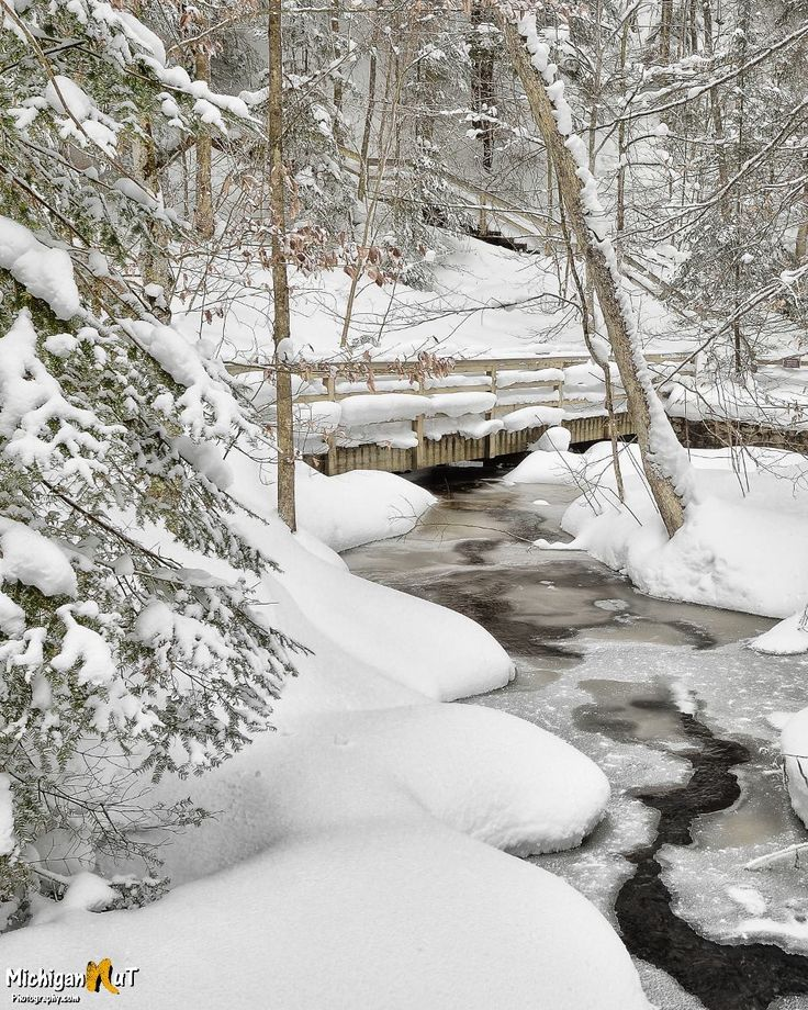 Munising Park with new snow (Michigan) by Michigan Nut Photography