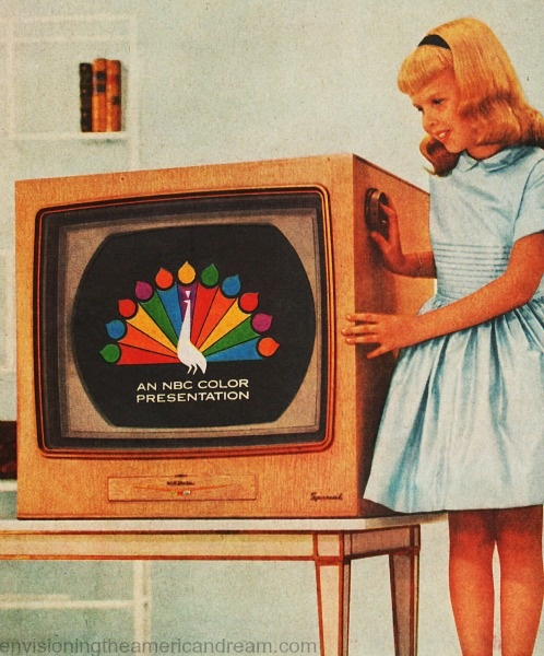 Vintage TV Ad 1957 Color Television, When we got our first color television....this....peacock was the very first thing we saw on the television to come on.