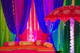 This eclectic mix of color was used for a Rajasthani wedding. We love it, but this could go horribly wrong if not executed properly.