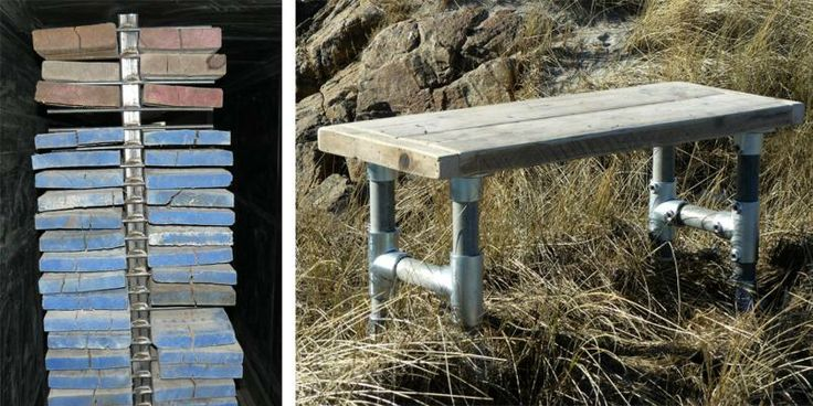 Gamle stillaser blir til nye møbler. koseliglandlig.no. Hagebenk??