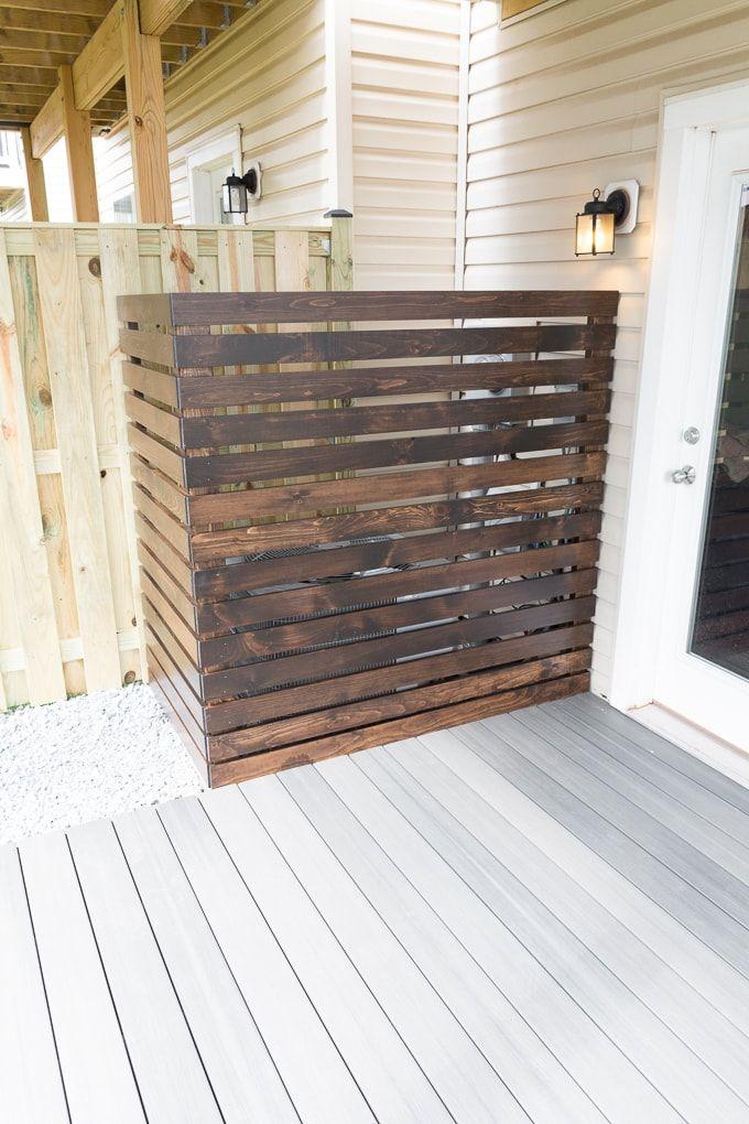 Hide An Ac Unit Diy Screen To Hide An Ac Unit In The Backyard Modern Fence Backyard Fences Fence Design