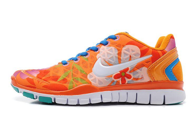 Nike Free TR FIT 2 Nest printing Women\u0026#39;s training Super A mesh Orange - White Deep