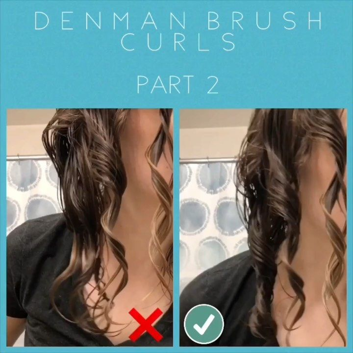 Katie On Instagram Denman Brush Curls Part 2 Faq How Do I Know Which Way To Curl This Applies To These Natural Hair Diy Wavy Hair 2b Denman Brush