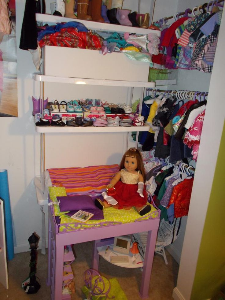 closet  right side  mckenna's bed  american girl doll