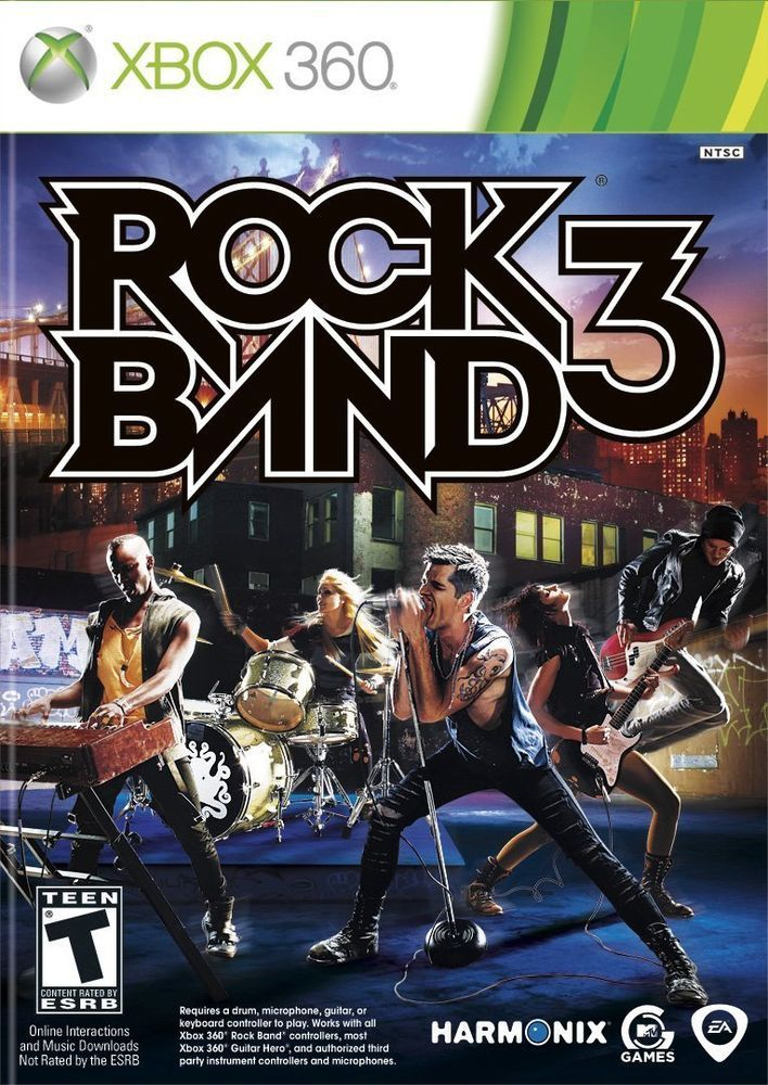 Rock Band 3  (Xbox 360, 2010) NEW AND SEALED