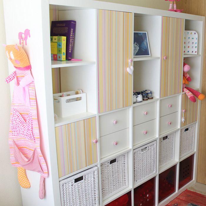 C mo convertir una estanter a expedit en un armario for Ikea puertas para estanterias