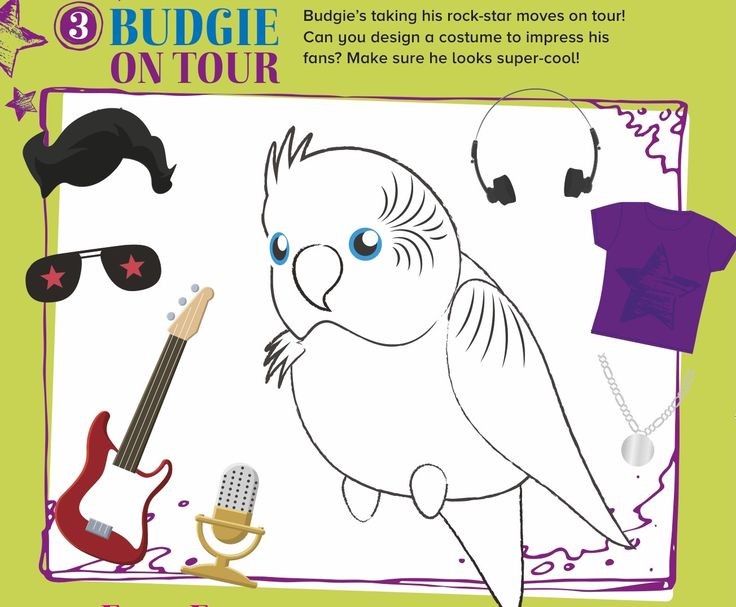 Make our rocking' budgie look cool! This and more story-themed crafts and activities in Storytime Issue 25! ~ STORYTIMEMAGAZINE.COM